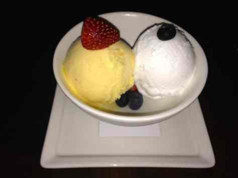 Mango and lemon sorbet
