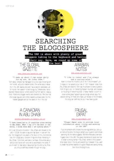 Arabian Notes in Fact Abu Dhabi magazine June 2014
