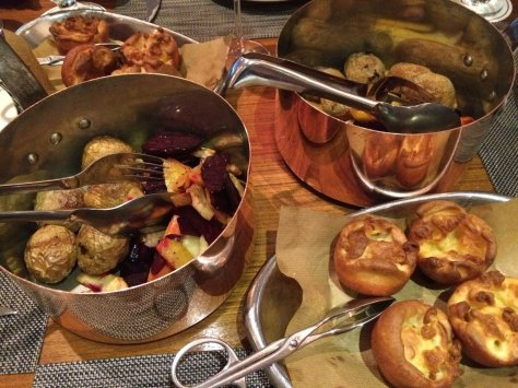 Roast veg and Yorkshire puds!