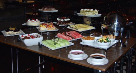 A tempting selection of desserts on offer