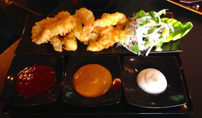 Crispy tempura shrimp