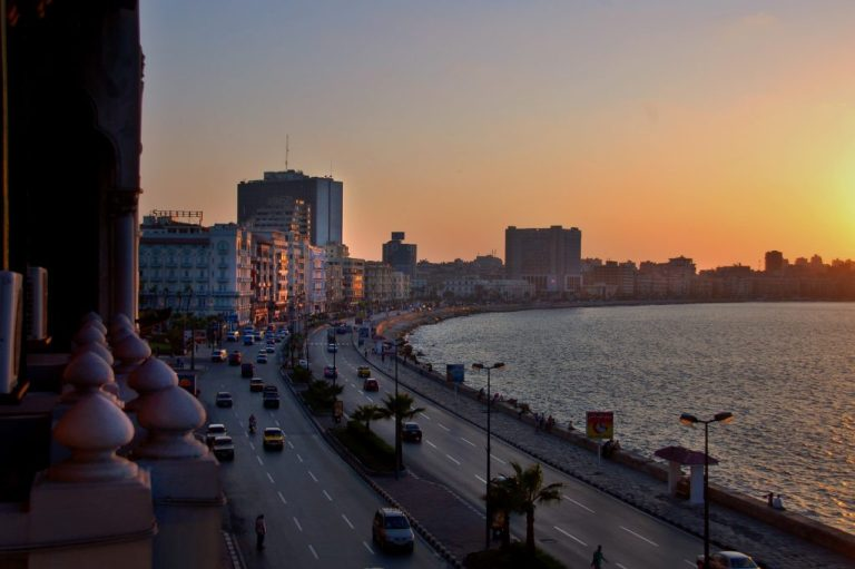 A panoramic view over Alexandria, Egypt