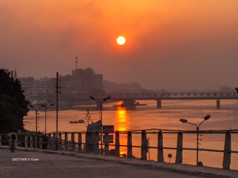 sunset over Mansoura Corniche