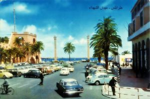The Martyrs' Square, Tripoli, Libya, the 60's