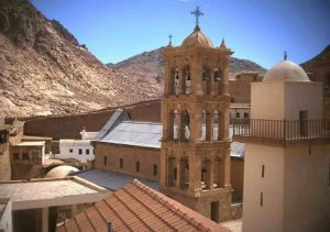 View inside the Saint Catherine's Monastery in Egypt