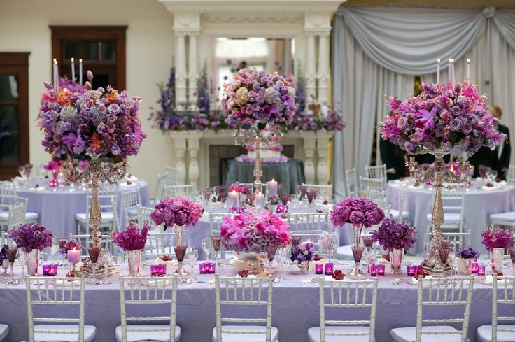 Your Wedding In Color: Silver And Purple