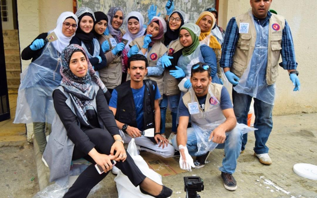 لجنة عامل الشبابية في مركز عين الرمانة تنجز مبادرات تطوعية