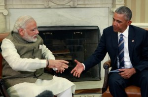 President Barack Obama meets with Prime Minister Narendra Modi of India in the Oval Office at the White House on June 7, 2016 in Washington, DC. Modi will address a joint meeting of Congress on Wednesday. (Photo by Dennis Brack-Pool/Getty Images)