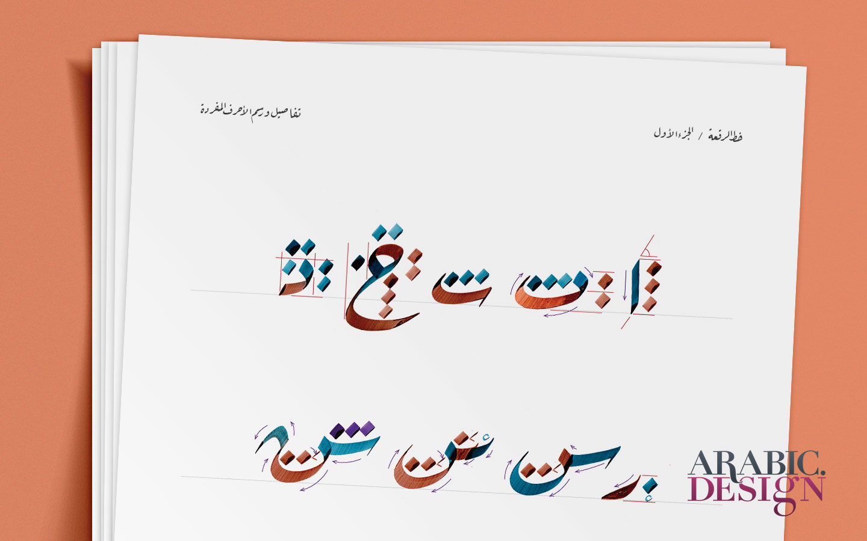 Arabic Calligraphy Ruqaa Practicing Worksheets