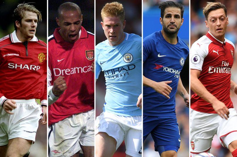 دي بروين يتصدر قائمة أفضل 25 صانع أهداف في تاريخ الدوري