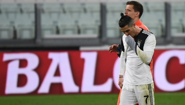 Cristiano Ronaldo from the last match of Juventus and Inter Milan