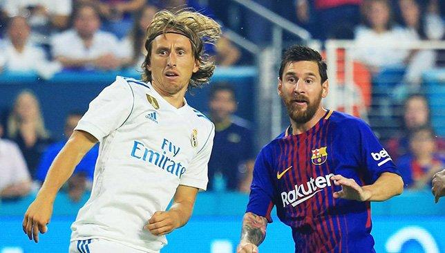 Lionel Messi and Luka Modric - Barcelona and Real Madrid - La Liga