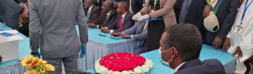 ممثلو الأطراف السودانية يوقعون على الاتفاق السلام النهائي في جوبا [صورة الأرشيفية]