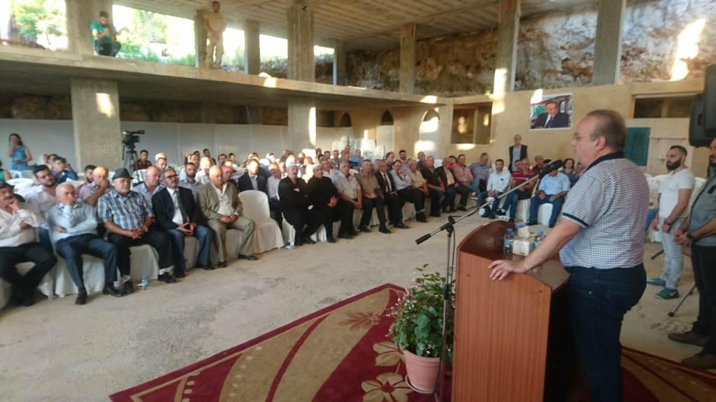 وهاب إفتتح مركزاً للحزب في بلدة غريفة الشوف