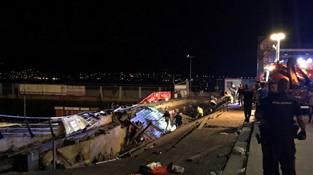 إصابة 266 متفرجاً جراء انهيار منصة حفل في إسبانيا