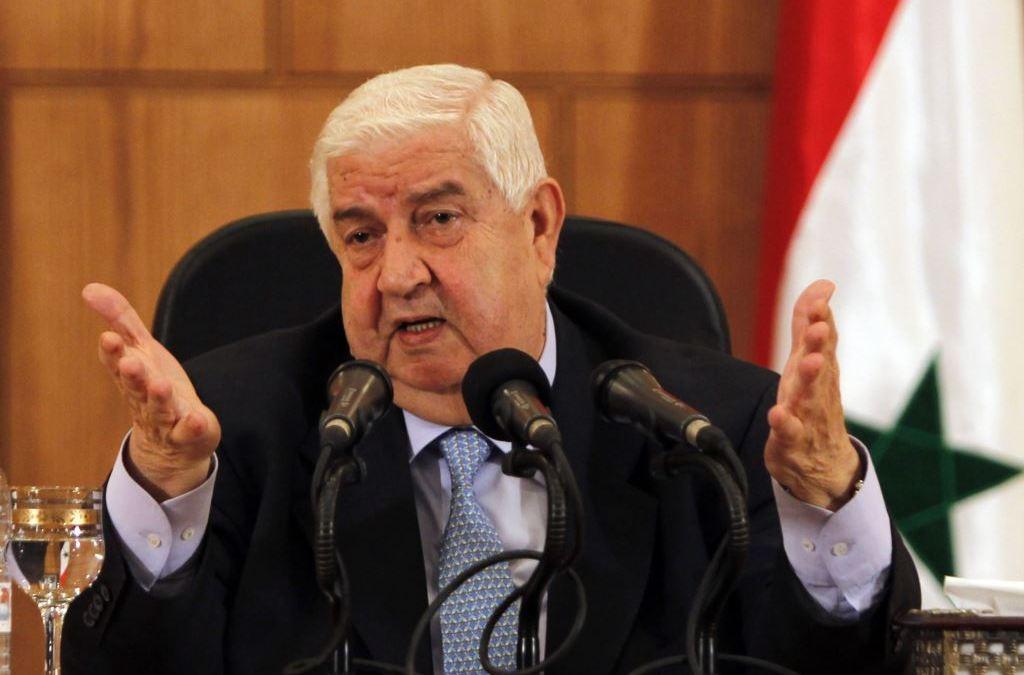 المعلم: تهديدات واشنطن بضرب سوريا لن تؤثر على خطط تحرير إدلب