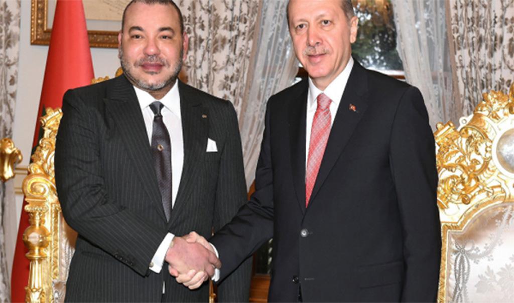 ملك المغرب لأردوغان: حريصون على مواصلة العمل سويا معكم