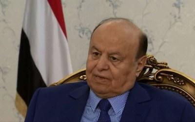 الرئيس اليمني: نؤيد محادثات سلام برعاية الأمم المتحدة