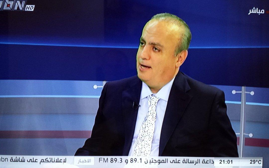 """وهاب لقناة الـ """"أن.بي.أن"""": لا عودة للنزوح بل قد يدخل مليون سوري جديد إلى لبنان بسبب الحصار الإقتصادي على سوريا"""
