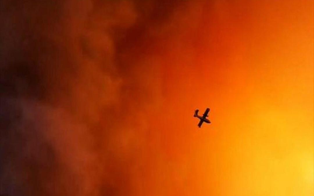 الطائرات شاركت في إخماد حريق جزيرة إيفيا اليونانية ولا خطر على السكان