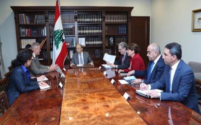 """عون يحذر """"إسرائيل"""" من تداعيات أي اعتداء جديد على لبنان"""