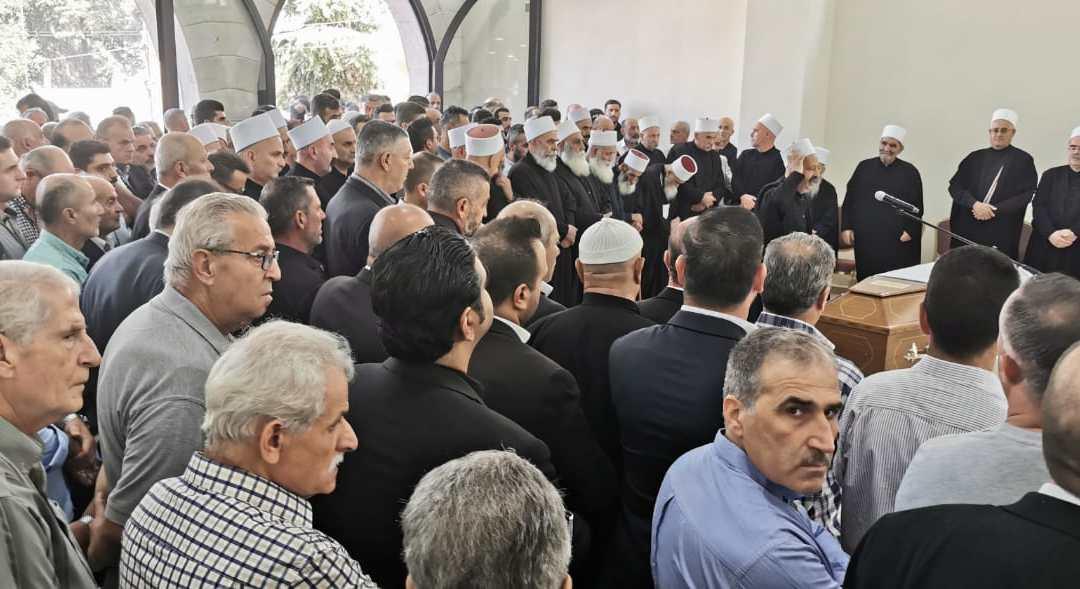 بلدة الباروك – الشوف شيّعت فقيدها الرفيق بسام حلاوي في مأتم شعبي مهيب