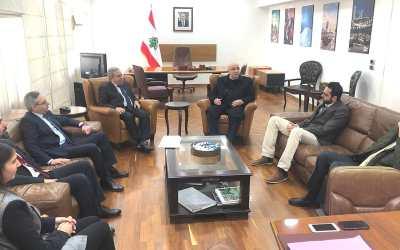 حزب التوحيد العربي زار وزير الشؤون الاجتماعية والسياحة رمزي مشرفية مهنئاً