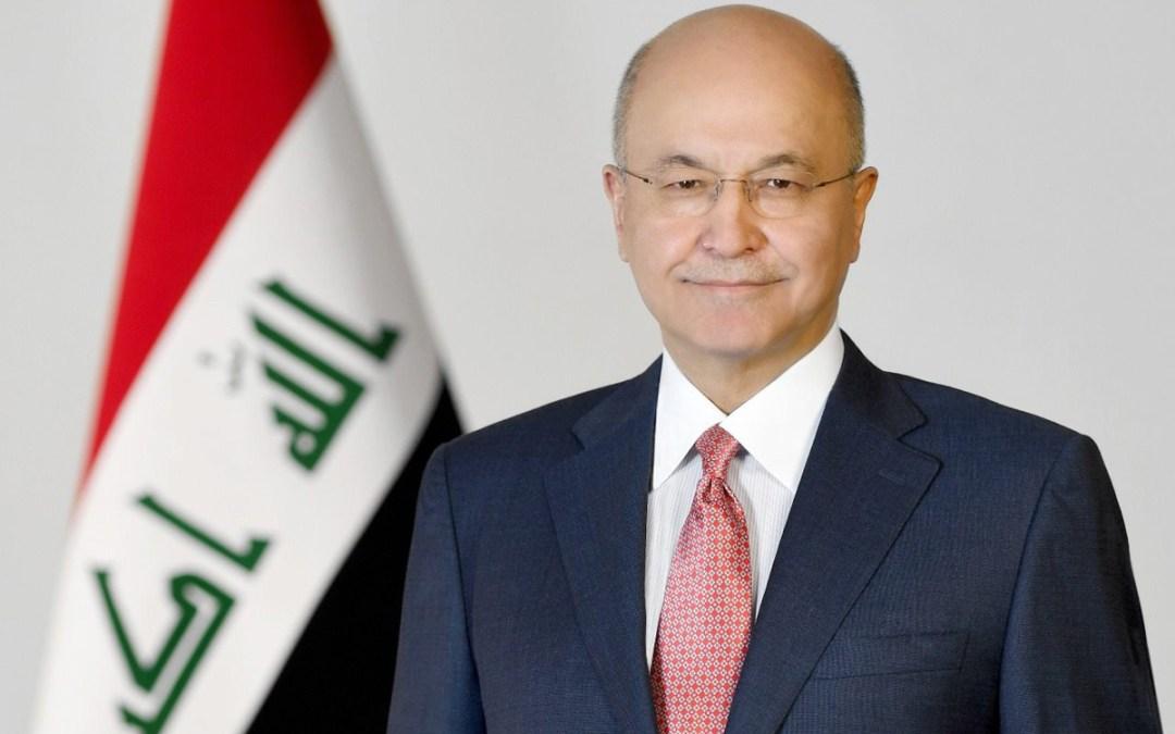 الرئيس العراقي: لا مجال للمجاملة على حساب سيادة العراق ويجب حصر السلاح بيد الدولة