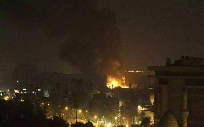 سقوط صواريخ على المنطقة الخضراء في بغداد