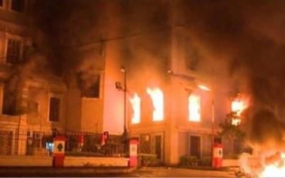ليل طرابلس يشتعل.. إحراق البلدية والمحكمة وإقتحام جامعة العزم