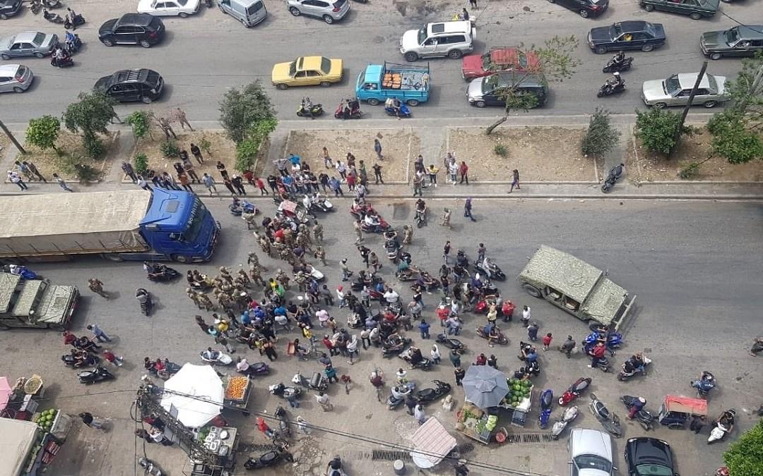 تجمع ومسيرة للمحتجين نحو منازل السياسيين في طرابلس