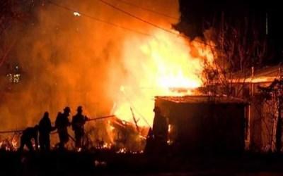 وسائل إعلام صينية: حريق كبير دمر قرية تراثية عمرها 400 سنة