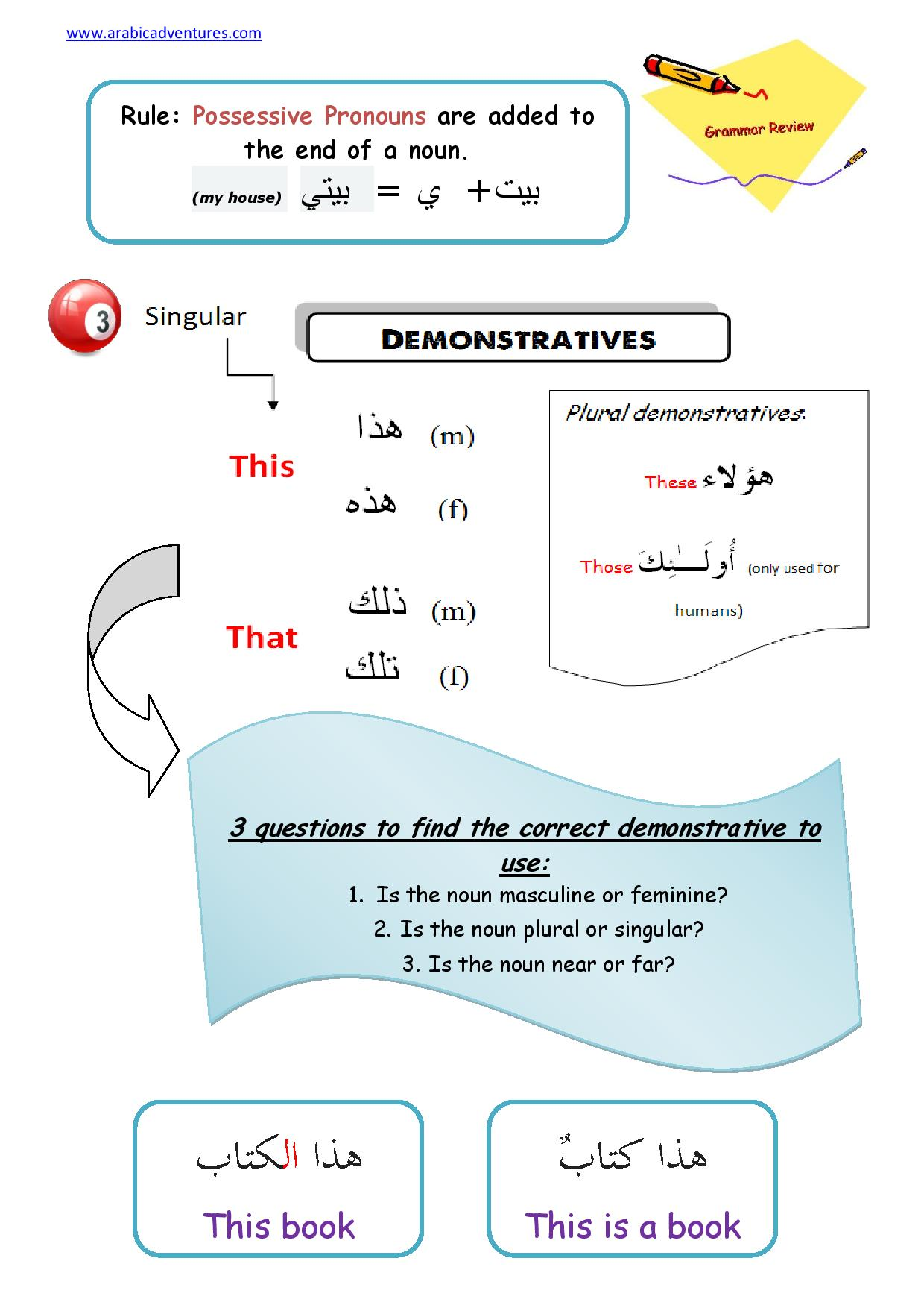 Arabic Pronouns