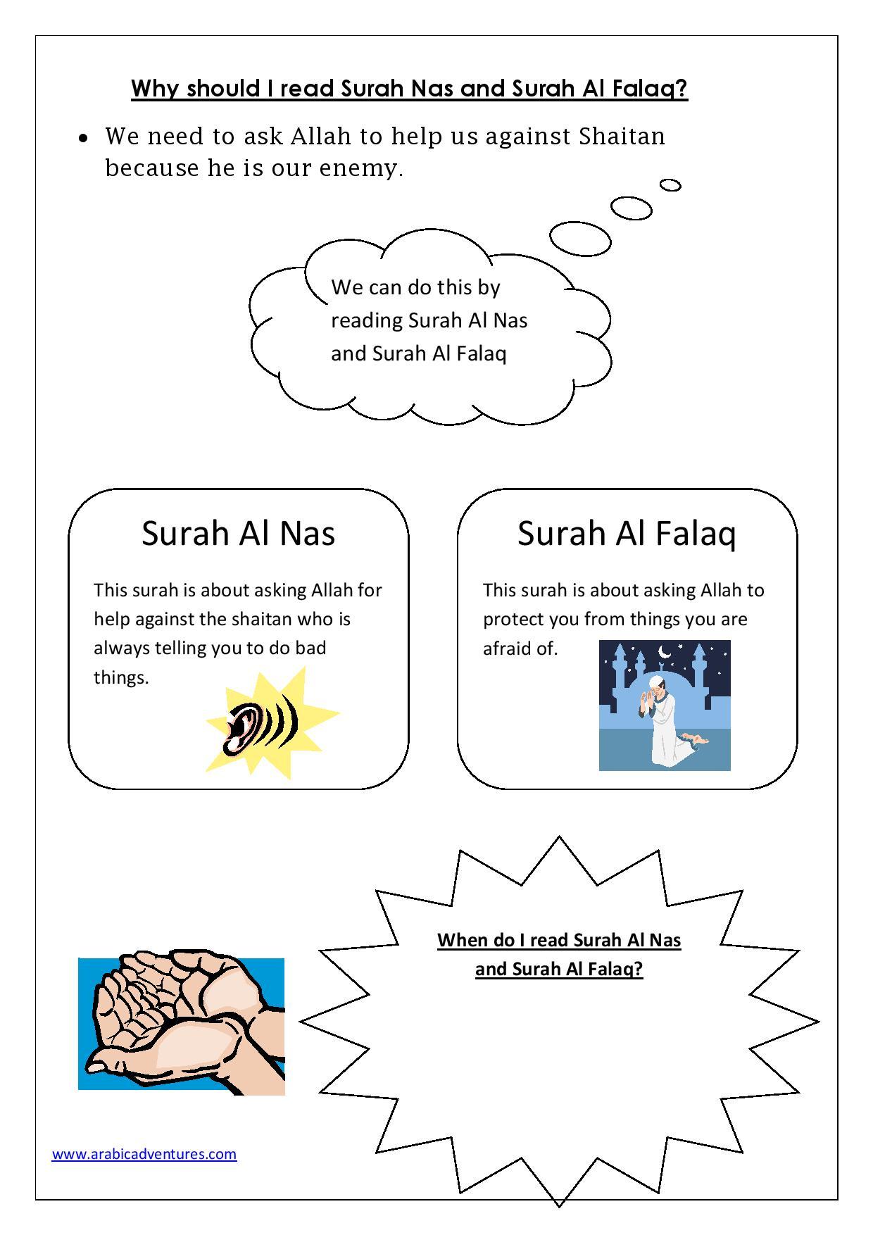 Early Years Surah Al Nas And Surah Al Falaq Activity