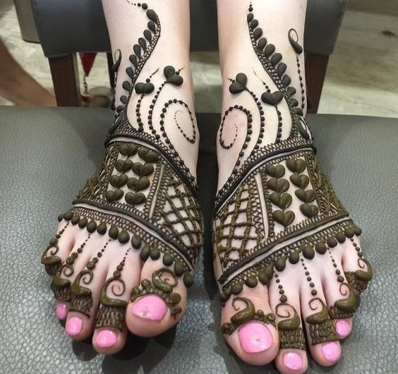 Latest Bridal Mehndi Designs 2019 For Feet Designer Collection Images
