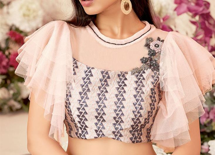 Engagement Net Blouse Designs 2019 New Collection For Girls