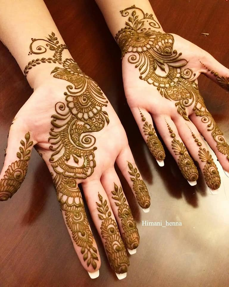 mehndi design back and front