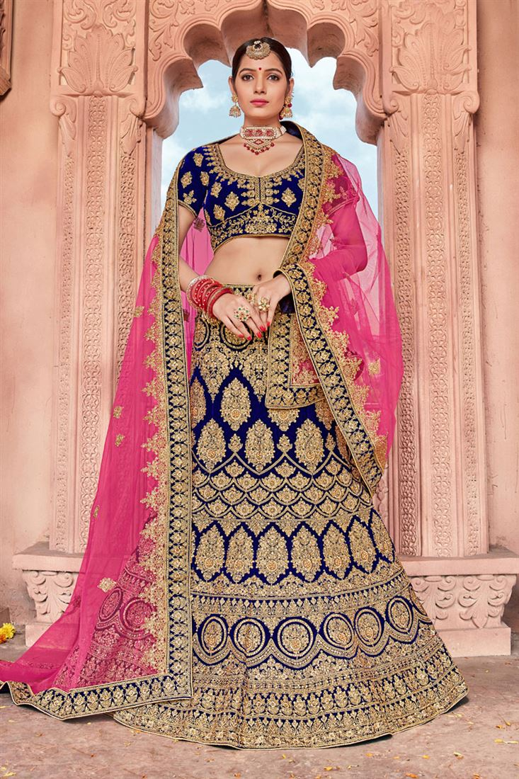 Indian Wedding Dresses 2020 Latest Bridal Lehenga Designs 8,Fitted Wedding Dress With Lace Overlay