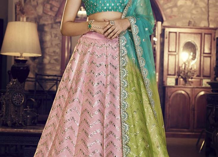 Reception Wear Designer New Silk Lehenga Choli Designs 2020