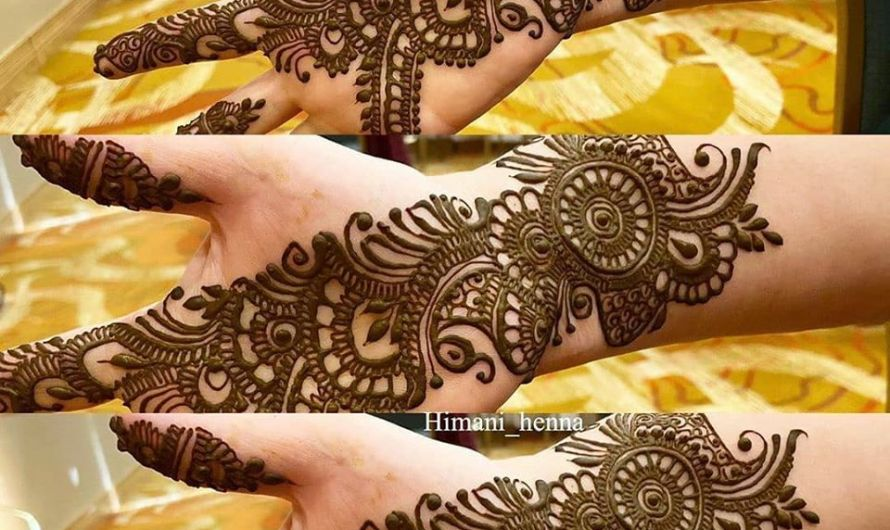 Arabic Indian Style Simple Bridal Mehndi Designs 2020 Images