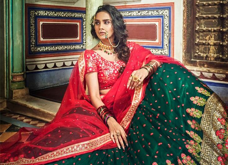 Exclusive Art Silk Reception Wear Indian New Lehenga Choli Designs 2020