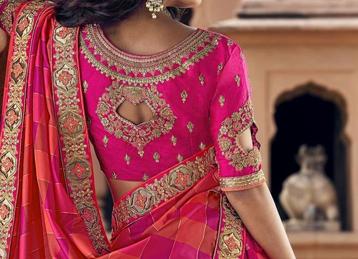 Trending Engagement Wear Latest Blouse Designs 2020 For Silk Sarees
