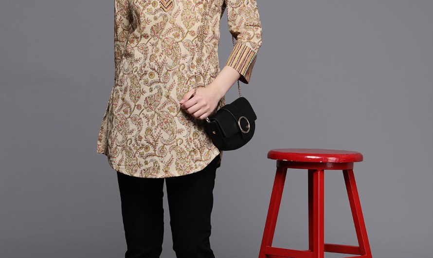 Summer College Wear Short Printed Kurti Designs 2020 For Girls With Jeans