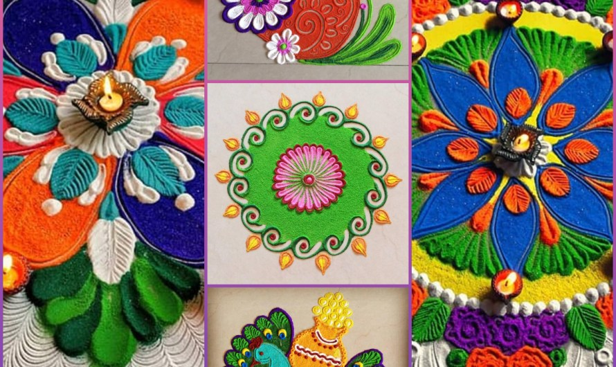 Colorful New Easy Rangoli Designs 2020 For Your Home