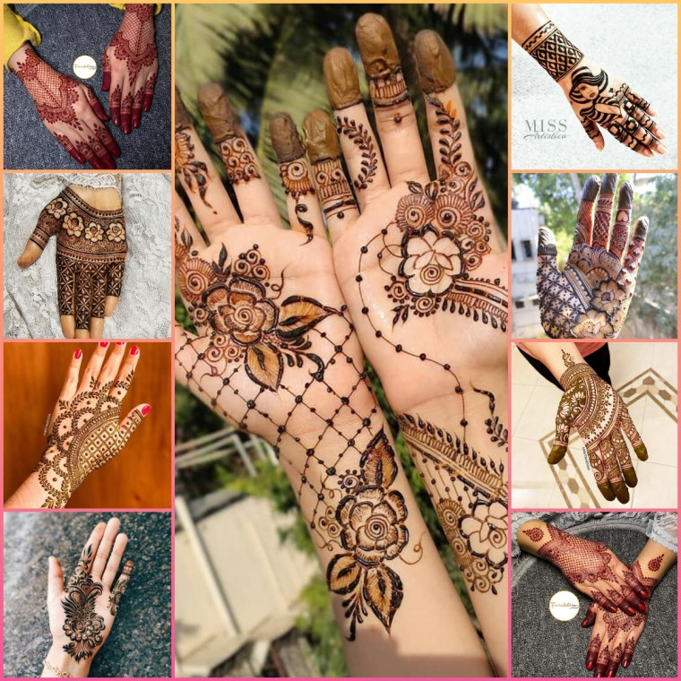 stylish simple and easy mehndi designs for girls front hand