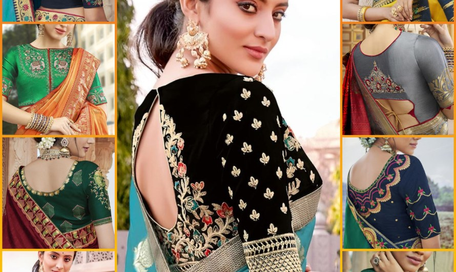 Unique Silk Saree Blouse Designs Images 2020 New Styles For Indian Women