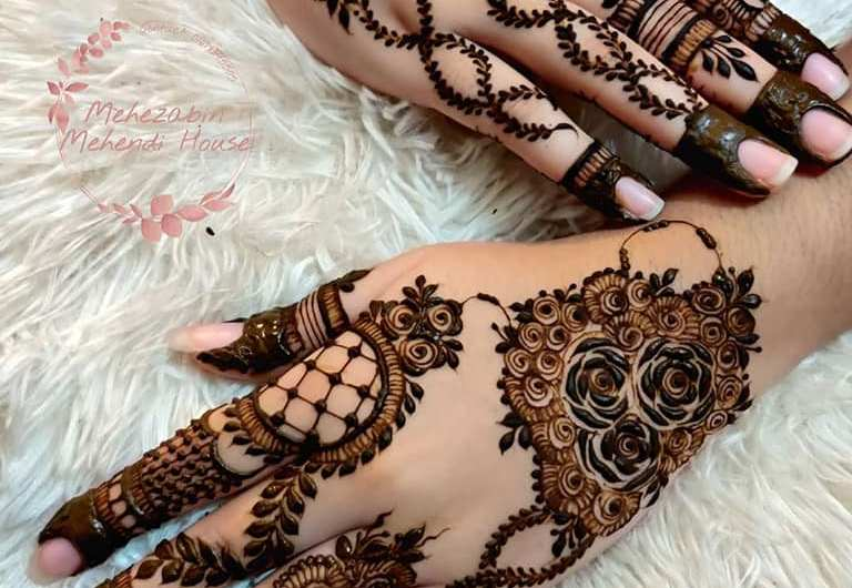 10 New Engagement Mehndi Designs Images For 2020 & 2021