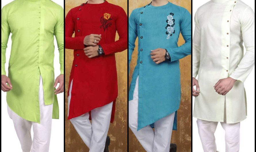 New Side Button Style Simple Cotton Kurta For Men 2020