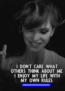 attitude thoughts for girls