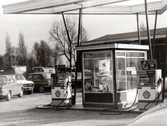 Shell tankstation jaren 70